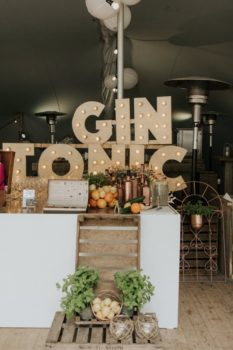 Gin Tonic Bar Rose Gold